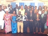 Group picture of the award recipients with Mr. Ayiku