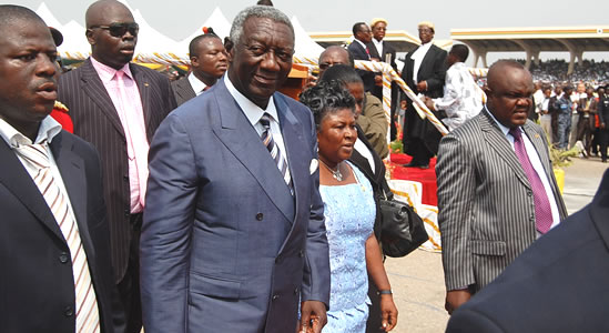 Outgoing president Kuffour