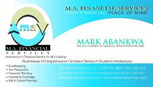 M.A. FINANCIAL SERVICES