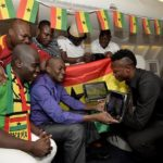 British Airways Jumbo Net Shows Ghana Football At 35,000 Ft.