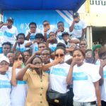 Joselyn Dumas Continues Xcholera Campaign At Kaneshie Market