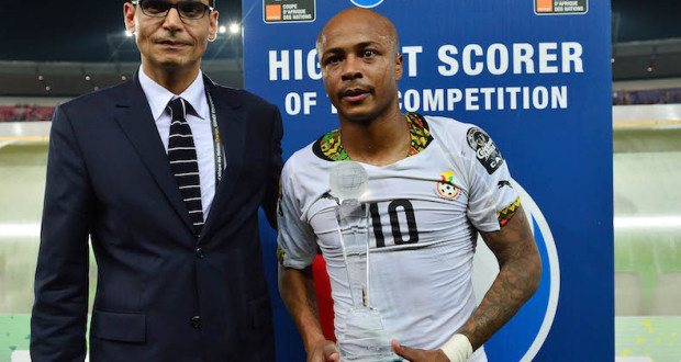 AFCON 2015: Andre Ayew Wins Nations Cup Goal King With 3 Goals