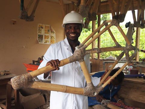 Founder and CEO of Booomers International Kwabena Danso (pictured) is providing economic empowerment and sustainable solutions through the building of bamboo bikes in his homeland of Ghana