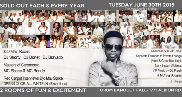 Bisa Kdei Live In Toronto – June 30th All White Party