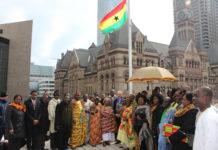 ghana independence flag raising toronto